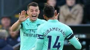 Granit Xhaka Pierre-Emerick Aubameyang Arsenal 2018-19