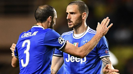 Giorgio Chiellini Leonardo Bonucci Juventus Champions League