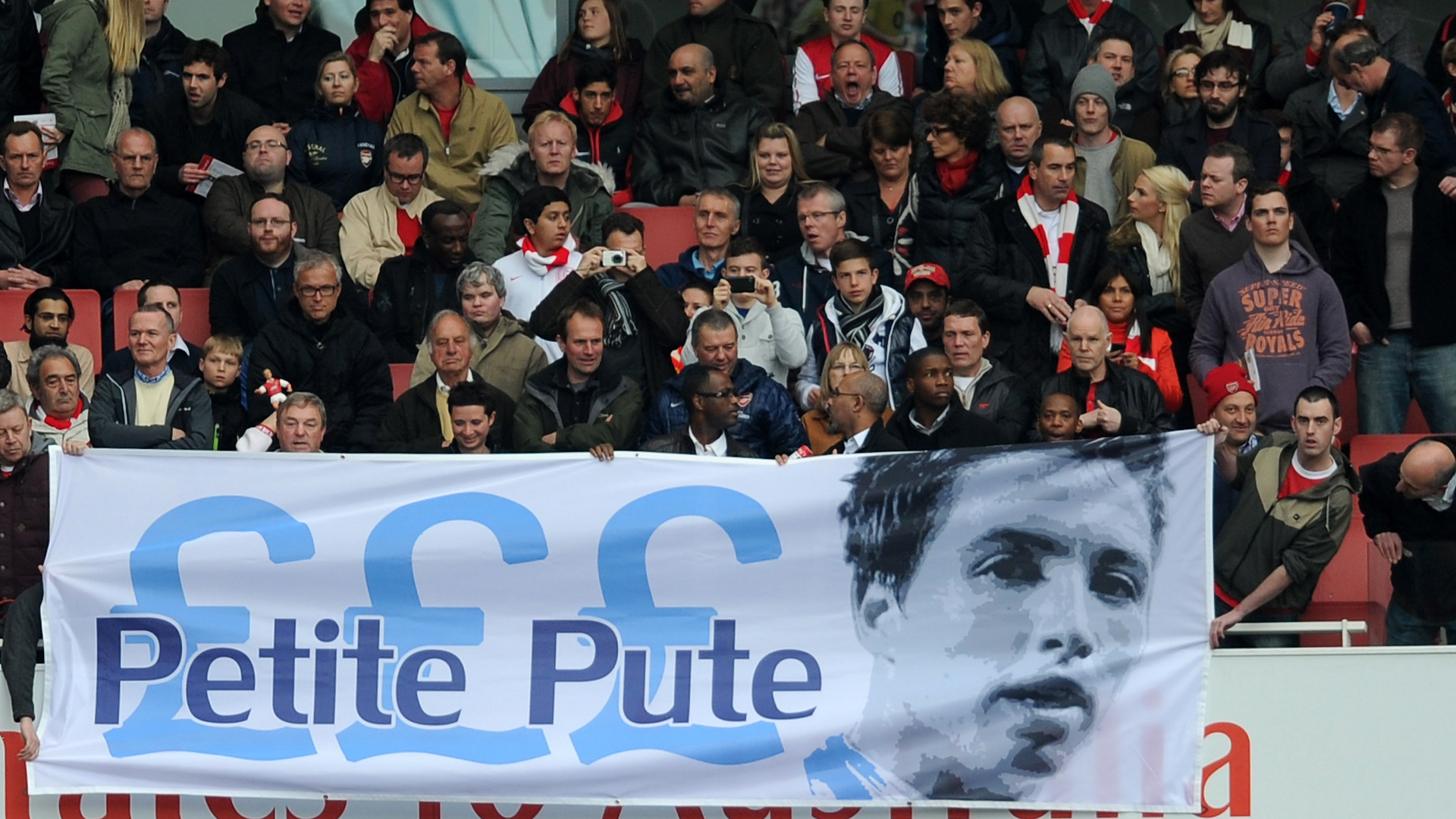 Samir Nasri Man City Arsenal fans banner