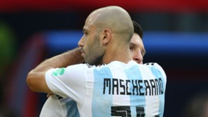 Javier Mascherano Lionel Messi Argentina France World Cup 300618