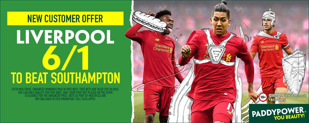GFX Liverpool Southampton enhanced betting
