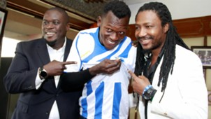Alex Orotomal of Nigeria signs for AFC Leopards.