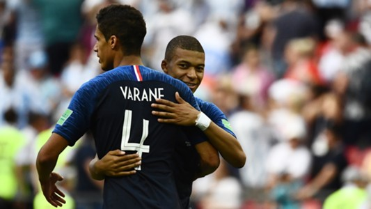 Varane Mbappe Frankreich 30062018