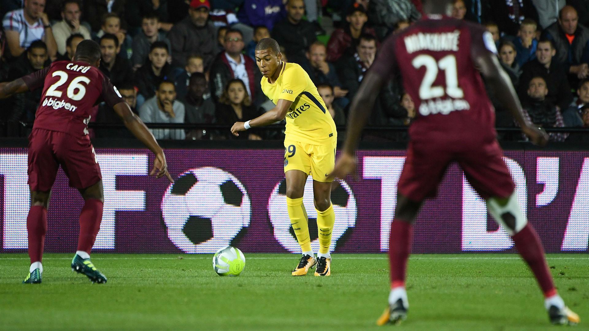 Kylian Mbappe Metz PSG Ligue 1 08092017