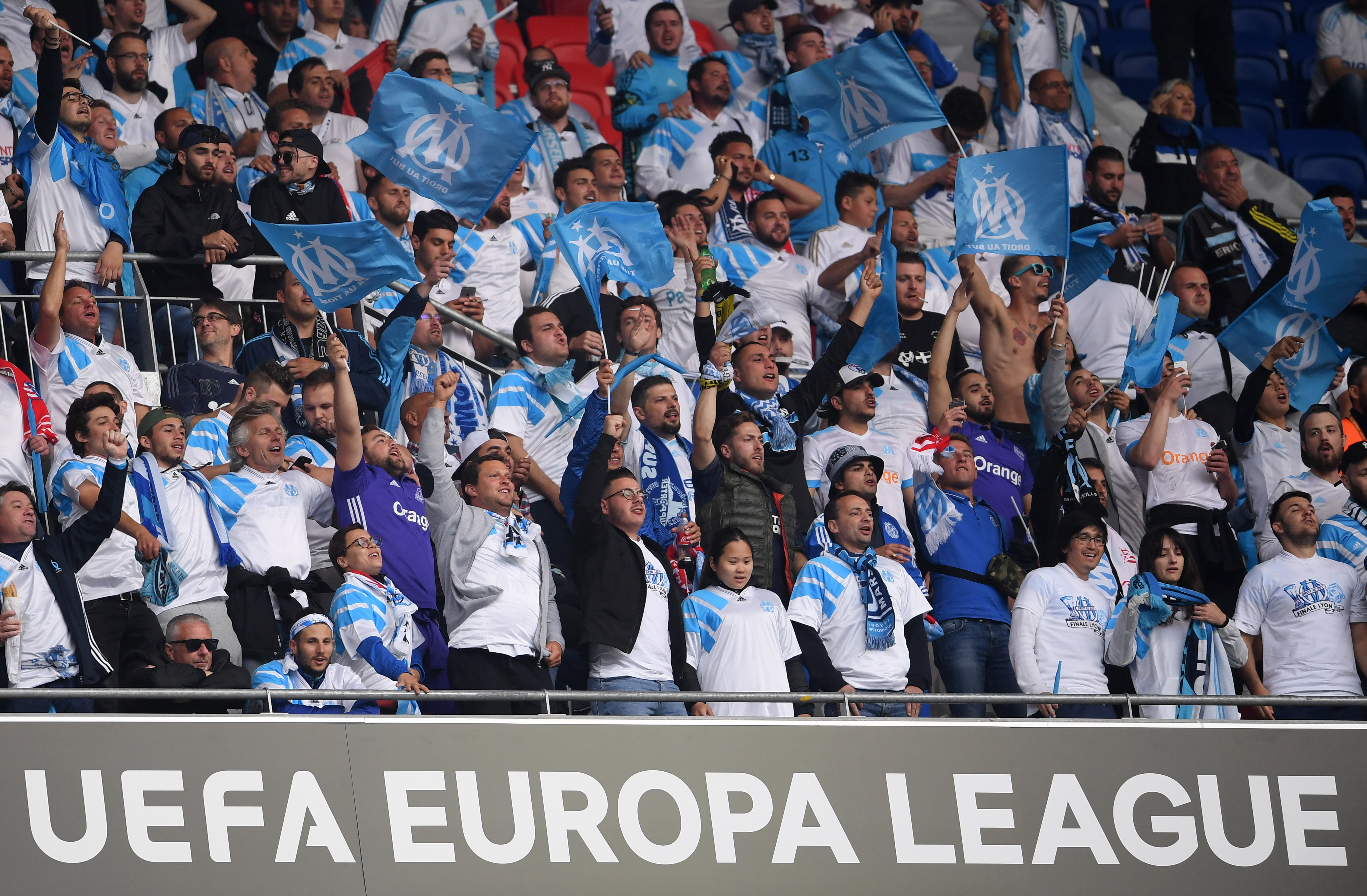 Olympique Marseille Atletico Madrid UEFA Europa League Finale Fans