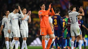 Courtois Barcelona Chelsea Champions League