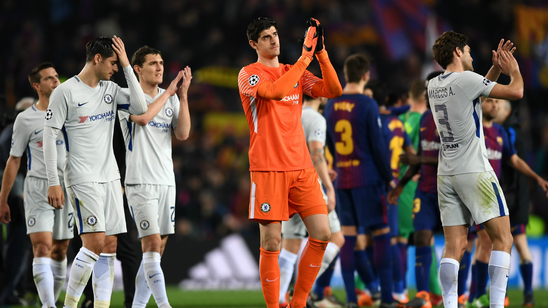 Courtois Barcelona Chelsea Champions League