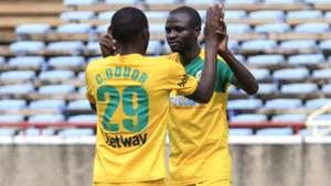 Chrisphine Oduor and Samwel Olwande of Mathare United.