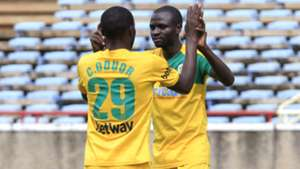 Chrisphine Oduor and Samwel Olwande of Mathare United.