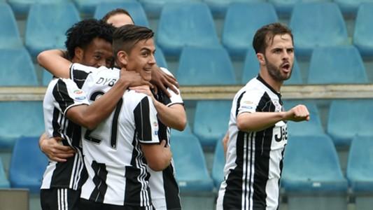 Juventus celebrating Sampdoria Juventus Serie A