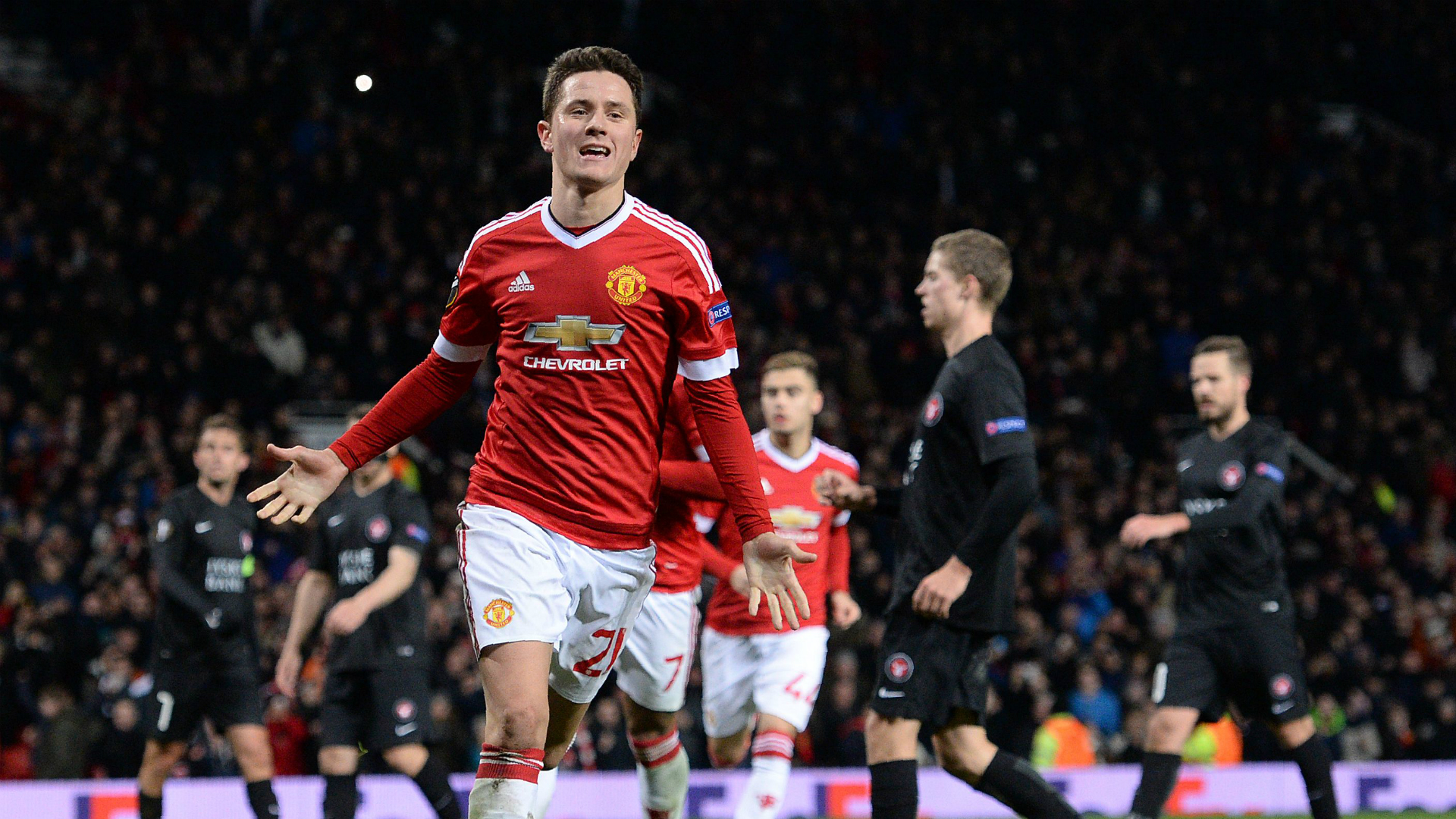 Ander Herrera Manchester United Midtjylland UEL 2016