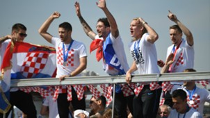 Croatian players celebration parade 16072018