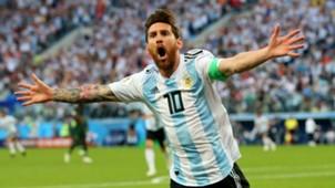 Lionel Messi Argentina Nigeria World Cup 260618