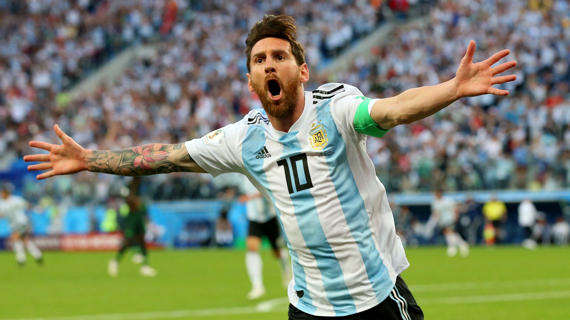 Lionel Messi Argentina Nigeria World Cup 260618