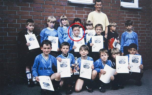 Young Mesut Ozil