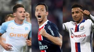 collage Ligue 1 Mittelfeldspieler