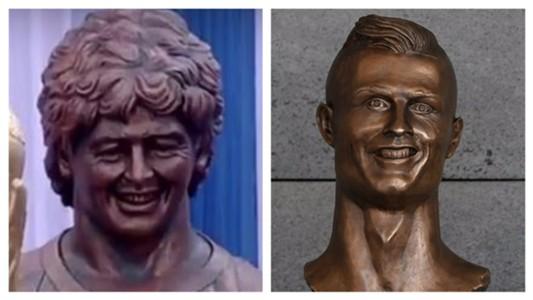 Maradona Ronaldo collage