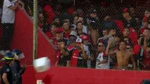 CAPTURA TV Incidentes Newells Villa Mitre Copa Argentina 24032019
