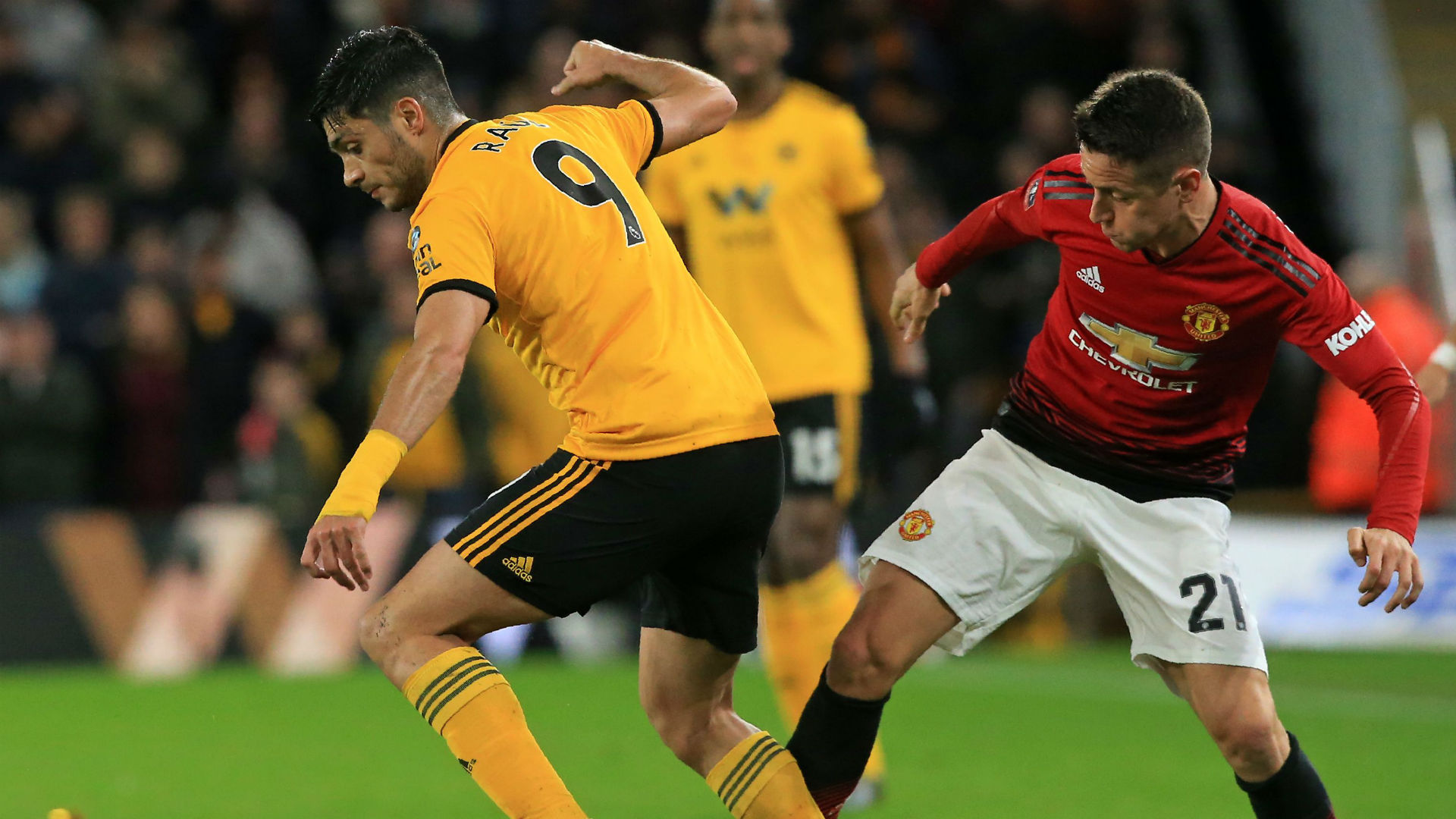 Raul Jimenez Ander Herrera Wolves Manchester United FA Cup 2019