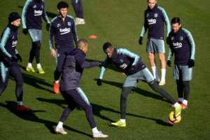 Ousmane Dembele returns to training.