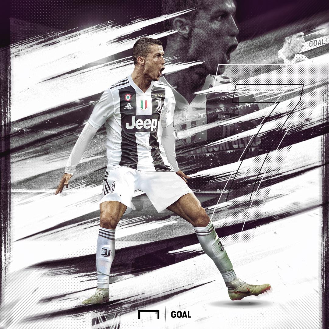 Cristiano Ronaldo first goal GFX