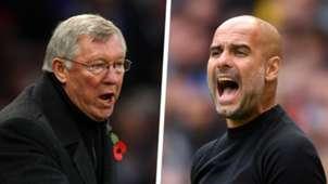 Sir Alex Ferguson Pep Guardiola Man Utd Man City