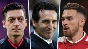 Mesut Ozil Unai Emery Aaron Ramsey Arsenal GFX