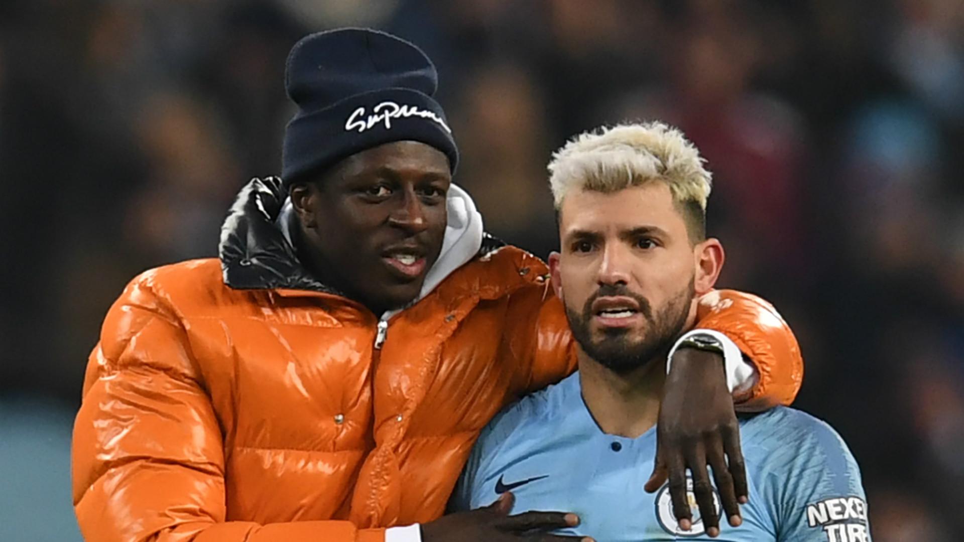 Benjamin Mendy Sergio Aguero Manchester City 2018-19