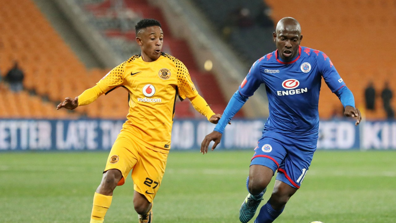 Hendrick Ekstein and Aubrey Modiba - Kaizer Chiefs v SuperSport United