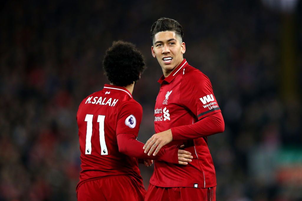 Roberto Firmino Mohamed Salah Liverpool Arsenal Premier League  291218
