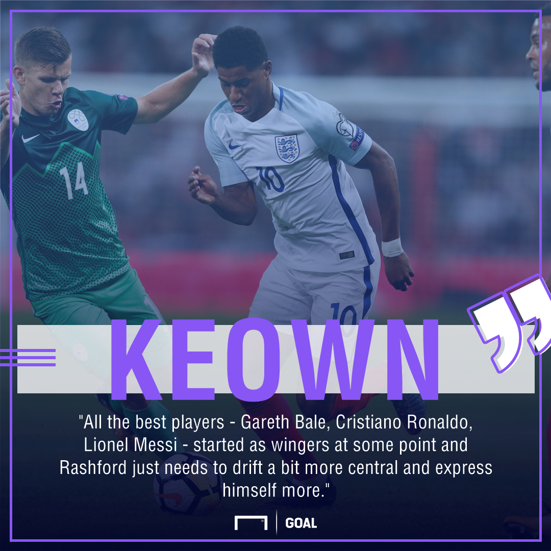 Martin Keown Marcus Rashford Messi Ronaldo Bale