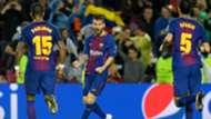Lionel Messi Paulinho Sergio Busquets Barcelona