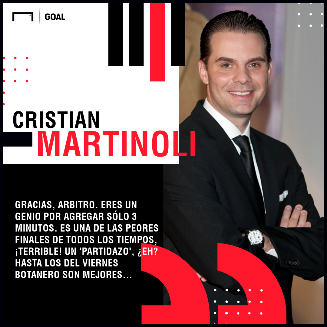 Christian Martinoli frase final Cruz Azul América