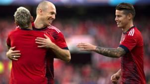 Arjen Robben James Rodriguez Rafinha Bayern Munchen