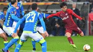 Minamino Salzburg Napoli Europa League