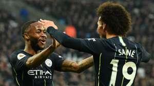 Raheem Sterling Leroy Sane Manchester City 2018-19