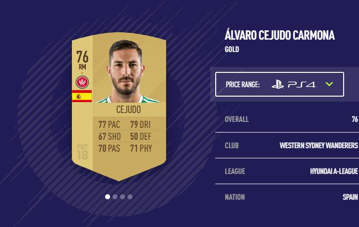 Alvaro Cejudo FIFA 18