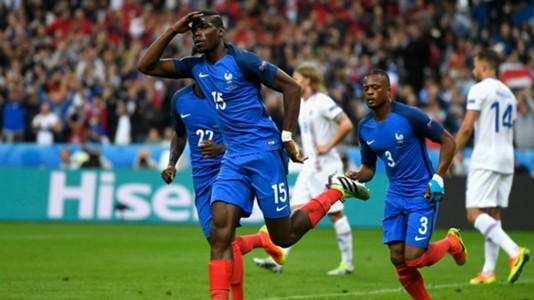Paul Pogba France Iceland UEFA Euro 2016 03072016