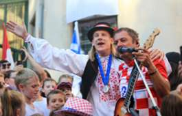 croatia - domagoj vida - welcome party - 17072018
