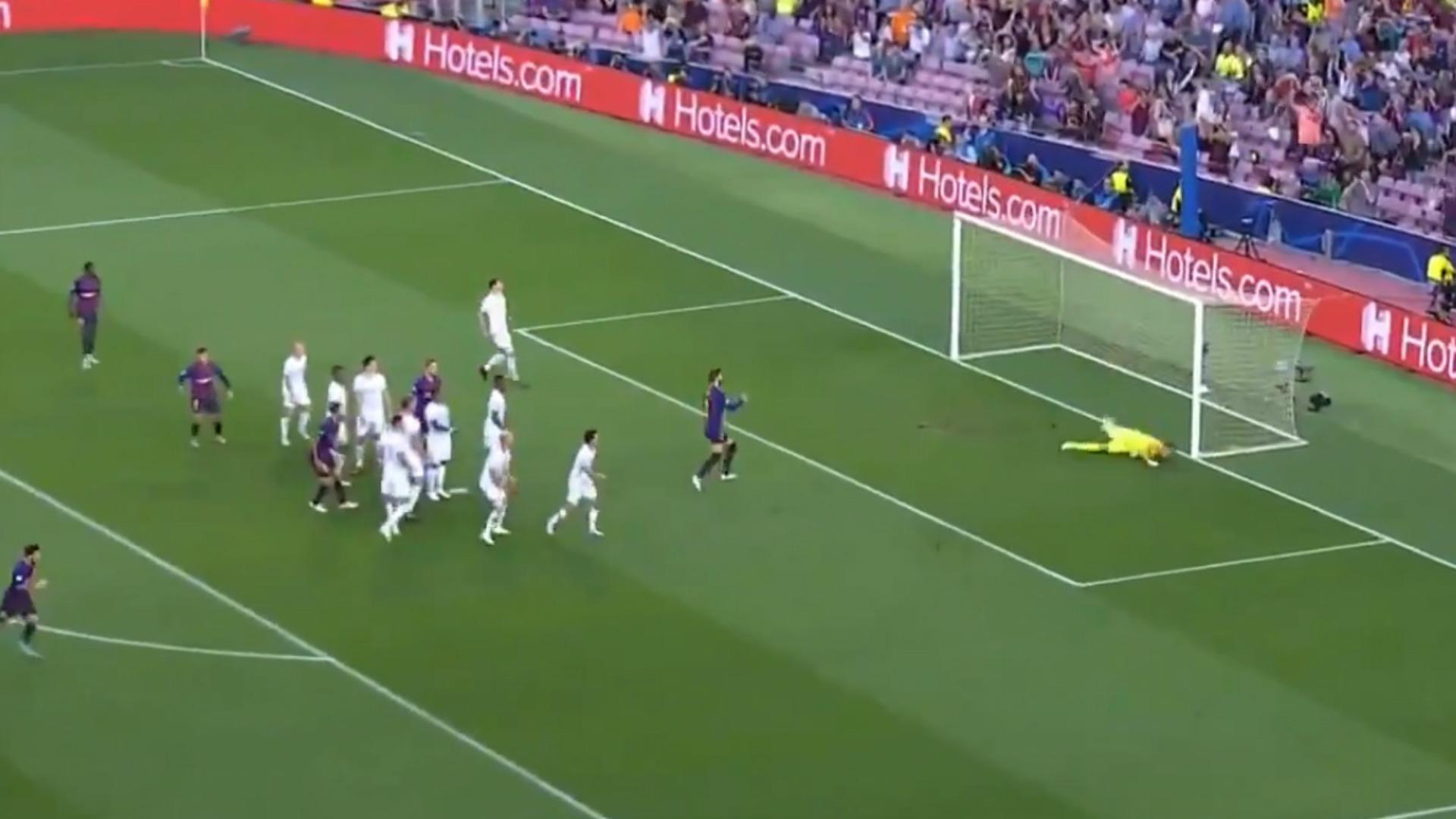 captura gol Messi vs psv