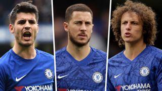 Alvaro Morata Eden Hazard David Luiz Chelsea