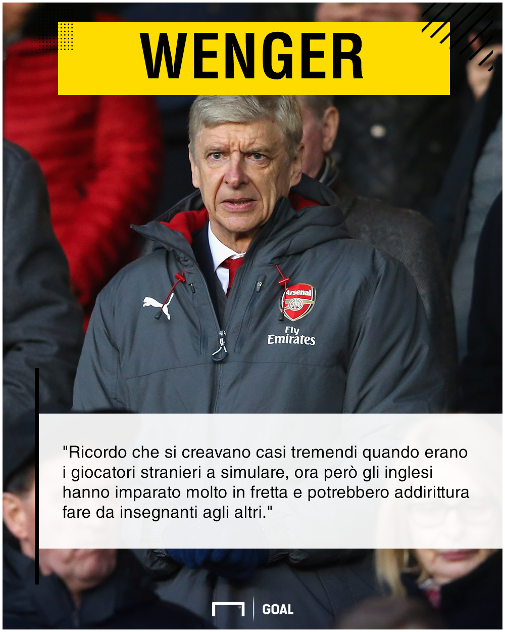 Arsene Wenger vs simulatori PS ita