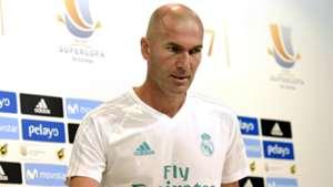 Zinedine Zidane Real Madrid Supercopa press conference