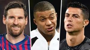 Lionel Messi Kylian Mbappe Cristiano Ronaldo