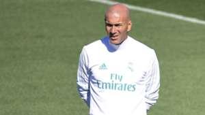 Zinedine Zidane Real Madrid training session