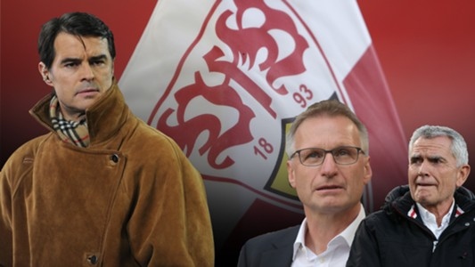GFX Thomas Berthold Michael Reschke Wolfgang Dietrch VfB Stuttgart