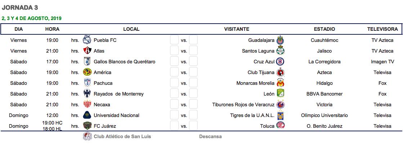 Julio Calendario 2019.Cual Es El Calendario Del Apertura 2019 De La Liga Mx Goal Com