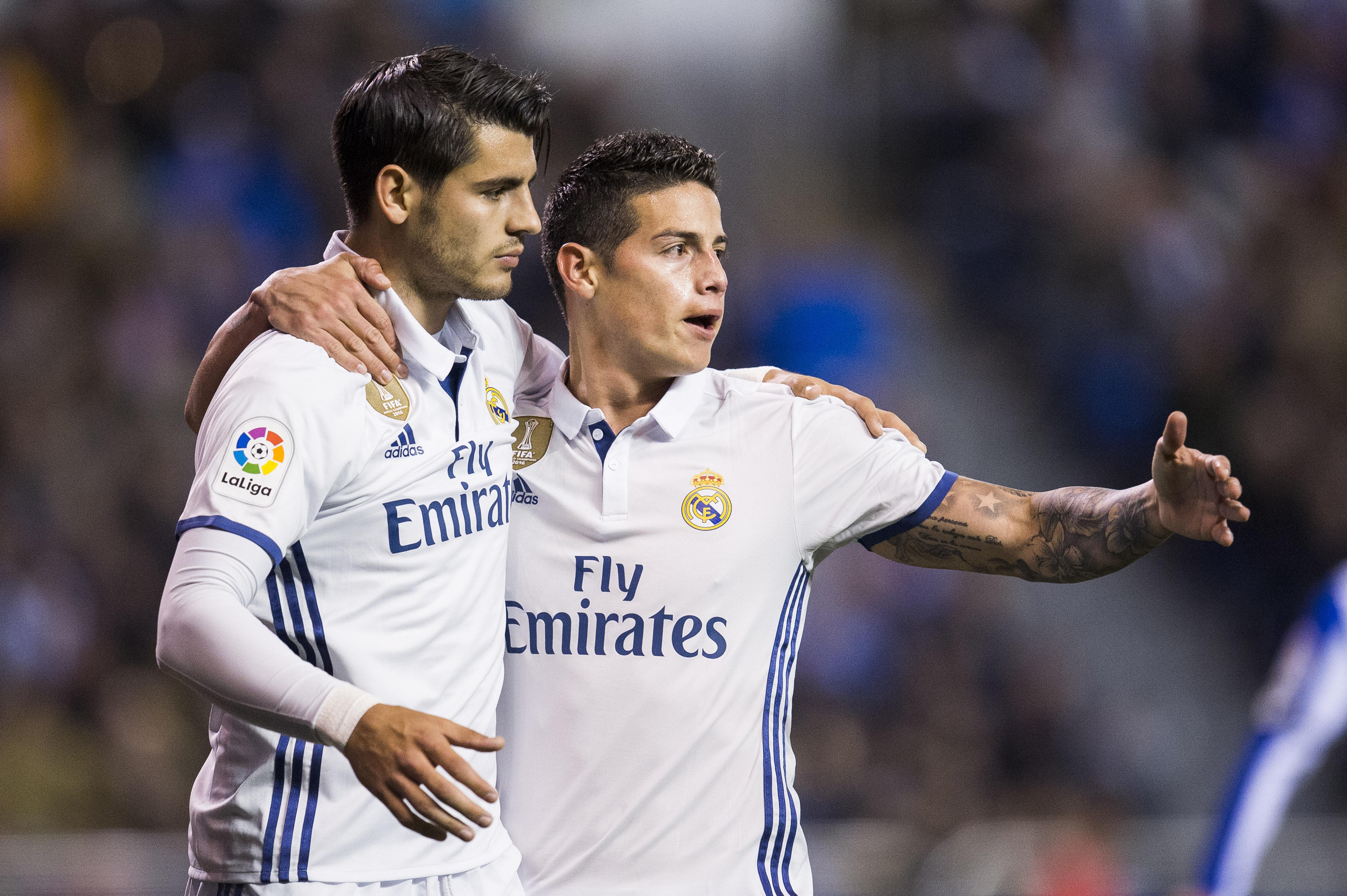 Alvaro Morata & James Rodriguez