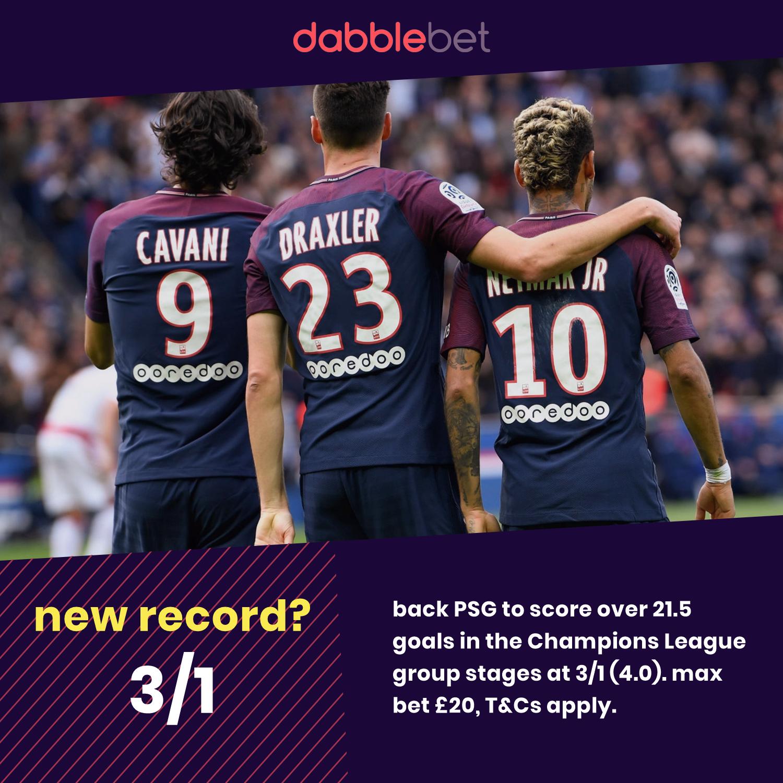 PSG Champions League record graphic