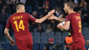 Dzeko Roma Barcelona Champions League